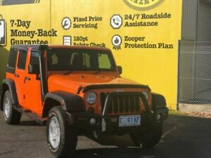 2012 Jeep Wrangler JK MY2012 Unlimited Sport Orange 6 Speed Manual Softtop Invermay Launceston Area Preview