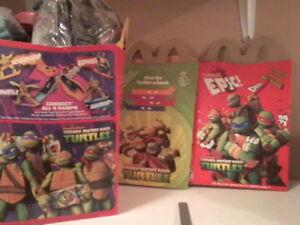 McDonalds Nickelodeon ninja turtles 3 complete sets