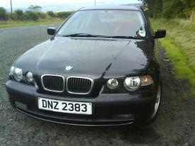 BMW 316 Ti SE (1800cc Black, Red Leather Interior)