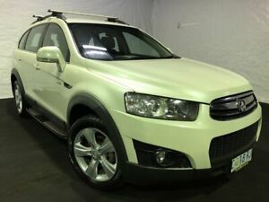2012 Holden Captiva CG Series II MY12 7 AWD CX White Pearl 6 Speed Sports Automatic Wagon Derwent Park Glenorchy Area Preview