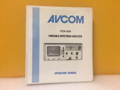 Avcom Psa-35a Portable Spectrum Analyzer Operation Manual