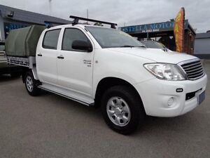2011 Toyota Hilux KUN26R MY11 Upgrade SR (4x4) White 5 Speed Manual Pooraka Salisbury Area Preview