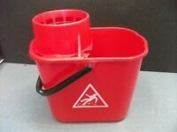 Professional Mop Bucket . Red colour .