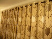 90 X 90 EYELET CURTAINS - EXCELLENT CONDITION - FROM SMOKE FREE HOME