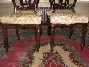 Antique Mahogany Balloon Back Dining Chairs, Carved, Set of 4 Kitchener / Waterloo Kitchener Area image 6