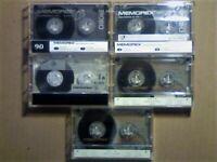 JL 5x RARE MEMOREX CHROME 90 / 100 CASSETTE TAPES 1989-1996 2x CRXII-S100, CRS+90, 2x CDX90 JL/SOLO