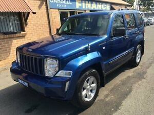 2010 Jeep Cherokee KK Limited (4x4) Blue 4 Speed Automatic Wagon Campbelltown Campbelltown Area Preview
