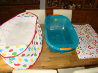 Baby Travel Cot, Bath and Changing Mat
