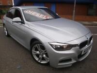 14 BMW 320D M-SPORT 180 BHP *RED LEATHER*£30 ROAD TAX*