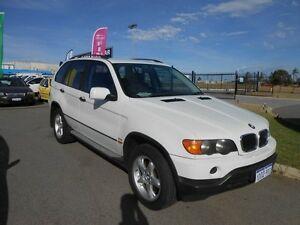2002 BMW X5 E53 3.0I White 5 Speed Auto Steptronic Wagon Wangara Wanneroo Area Preview