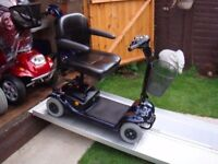Easily Portable Lightweight Invacare Lynx Mobility Scooter 18 Stone Capacity Fully Adjustable