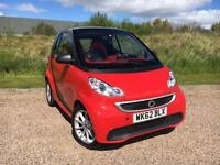 Smart fortwo 1.0mhd Softouch 2012/62 Passion *WITH ONLY 33,300 MILES FROM NEW*