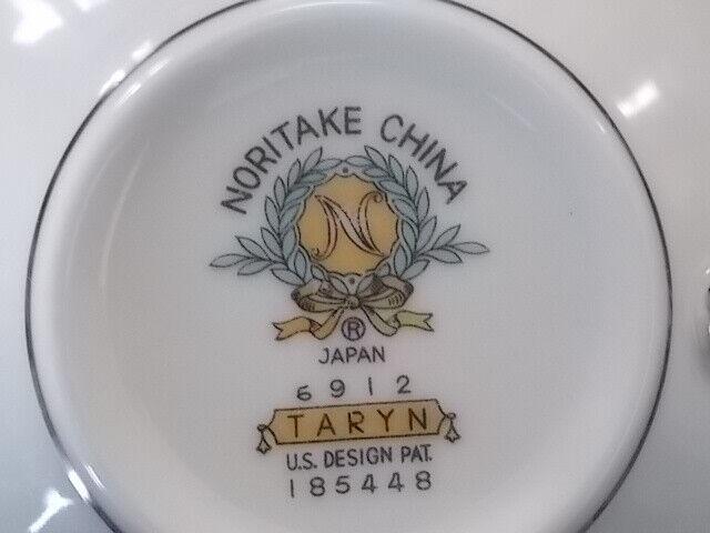 Noritake China Taryn 5912 Coffee Cup Japan Light Blue Silver Floral - $4.50