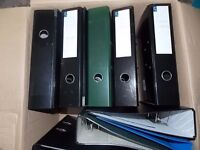 A4 Ring Binders/Folders, Dividers, Paper, Ledgers stationery 10 to clear. Text only,