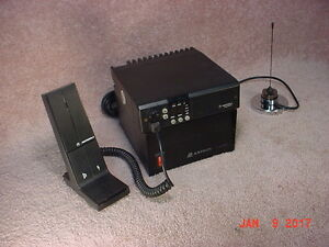 MOTOROLA VHF BASE STATION c/w Power Supply, Mic & Antenna
