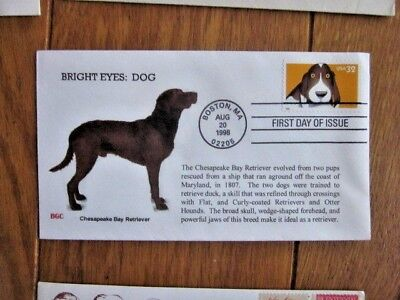BRIGHT EYES DOG CHESAPEAKE BAY RETRIEVER 1998 BGC  CACHET FDC ()