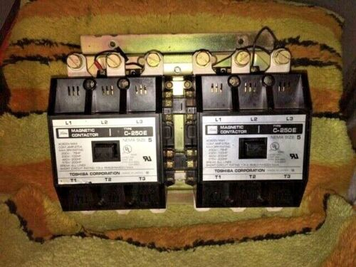 Toshiba Magnetic Reversing Contactor C-250E, 270A, Nema Size 5, 110/120V Coil