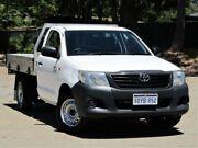 2012 Toyota Hilux TGN16R MY12 Workmate 4x2 White 5 Speed Manual Cab Chassis Kalamunda Kalamunda Area Preview