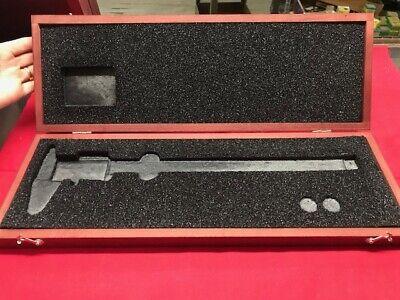 Starrett 946 Deluxe Wood Case For 12 Slide Calipers - Starrett 120  In Stock