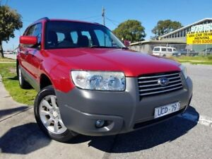 2006 Subaru Forester 79V MY06 X AWD Red 5 Speed Manual Wagon