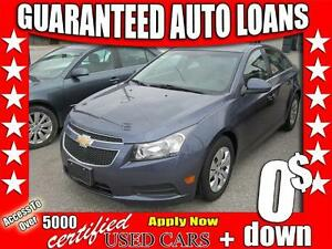 2013 Chevrolet Cruze LT Turbo $0 Down - All Credit Accepted!