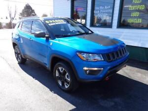 2017 Jeep Compass Trailhawk 4x4 for only $252 bi-weekly all in!
