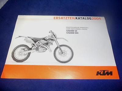 KTM Spare Parts Chassis 2004 125 200 SX EXC