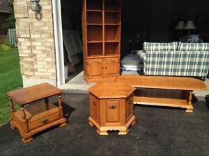 2 solid maple side tables - excellent condition - sold separate London Ontario image 3