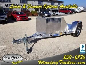 RC 4.5' x 10' OB1 Aluminum Open Bike Trailer - 2 200K