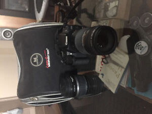 Barely used Canon 5 Rebel Xti w lenses & gear