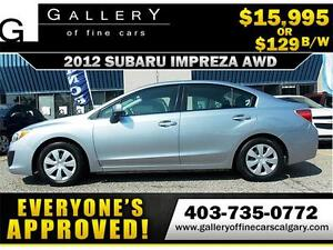 2012 Subaru Impreza 2.0i AWD $129 bi-weekly APPLY NOW DRIVE NOW