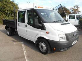 Ford Transit T350 CREW CAB TIPPER TDCI 100PS DIESEL MANUAL WHITE (2013)