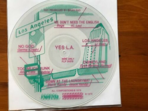 RARE YES L.A. PUNK VINYL COMP SEALED GERMS X BAGS ALLEY CATS NEW WAVE PINK GREEN