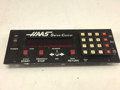 Haas Servo Controller 4th Axis Controller Operator Panel ONLY, SEE PICTURES