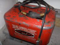 MERCURY Vintage Fuel Can with Hose, OMC Can and More