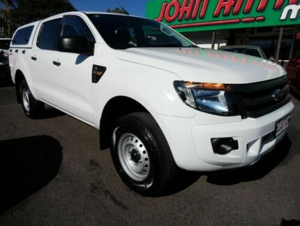 2013 Ford Ranger PX XL 2.2 HI-Rider (4x2) White 6 Speed Automatic Crewcab Mount Gravatt Brisbane South East Preview