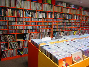 EDMONTON'S BEST SELECTION OF VINTAGE VINYL RECORDS LPs 45s 78s
