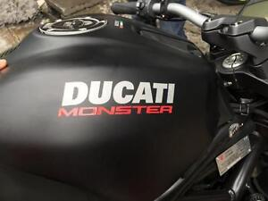 DUCATI MONSTER 696 821 1199 Sliver Red Reflective Fuel Tank Decal Rim Sticker x2