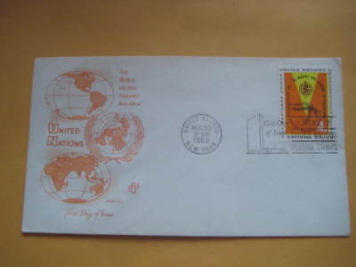 """1962 United Nations FDC on """"The World United Against Malaria"""" - Limited Edn FDC"""