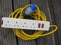 Caravan hook up adapter lead