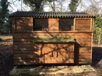 Fantastic chicken house suitable for 70+ birds, together with electric fencing, pop holes & feeders