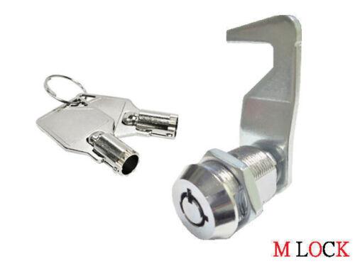 "Homak Tool box lock 5/8"" Tubular Cam Lock 90 degree hook cam replacement lock"