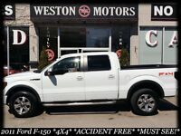 2011 Ford F-150 4X4* ACC FREE* LEATHER* MUST SEE