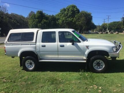 1996 Toyota Hilux (4x4) 5 Speed Manual 4x4 Dual Cab Chassis Clontarf Redcliffe Area Preview