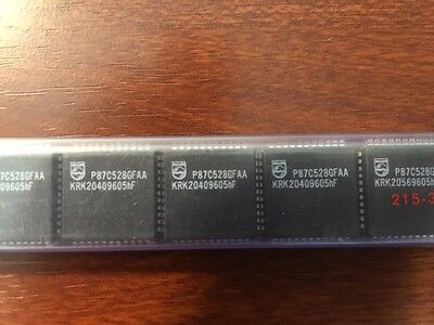 Philips P87c528 Gfaa 44 Pin Plcc Microcontroller 8051 Based - 16pcs