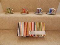 Maxwell Williams 4 Demi Coffee Cups Stripe Delight Brand New in Box