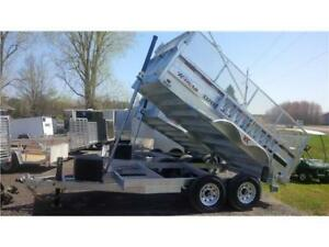 2019 EXPERT SERIES 7' X 12'  HD Dump Trailer 15400LBS   NO RUST