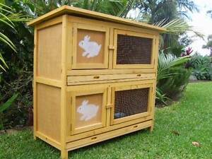 SOMERZBY DOUBLE Rabbit Hutch Guinea Pig Cage Breeding bank Somersby Gosford Area Preview