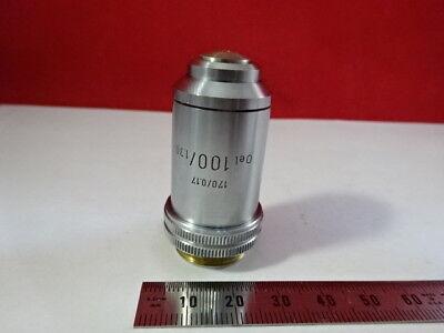 Leitz Germany Vintage Objective 100x 170 Optics Microscope Part F6-a-16