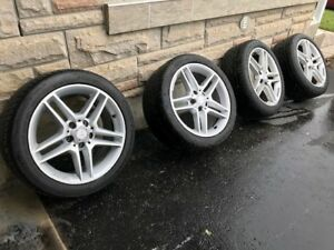 Mercedes Benz C Class OEM Wheels and Continental Tires.